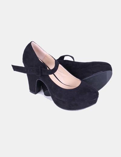 La Bottine Souriante Zapato negro de tacón con plataforma de antelina  (descuento 76%) - Micolet d534709ece2e