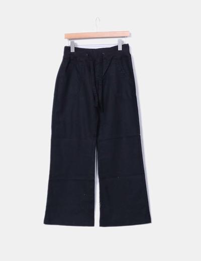 Pantalon noir en lin Vero Moda