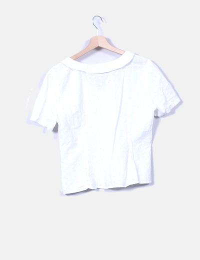 Camisa de manga corta calada