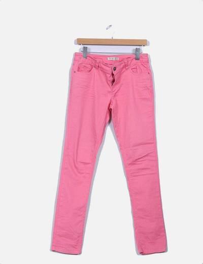 Pantalón pitillo rosa Atmosphere