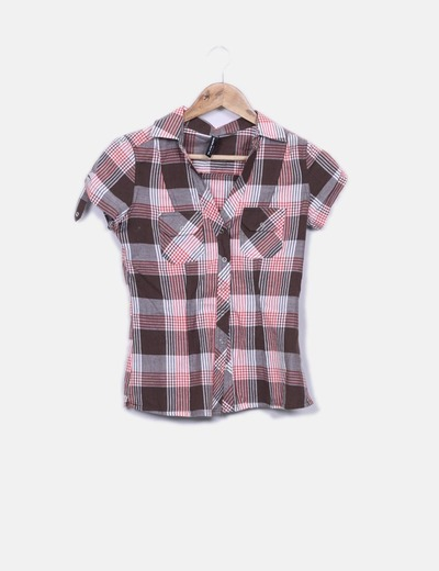 Camisa cuadros marrones Blind Date