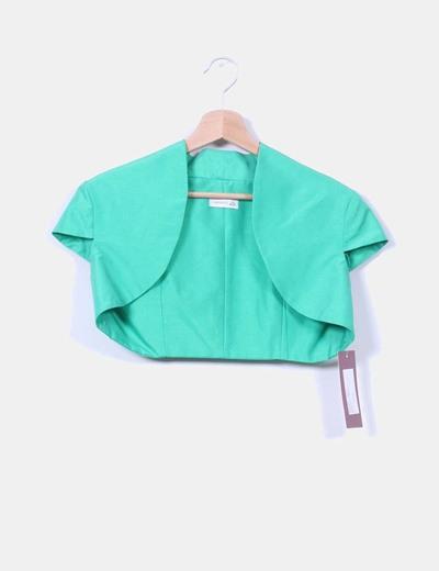 Conjunto de vestido y torera verde J. Arggido