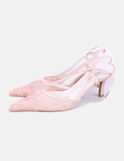 Zapatos tul rosa