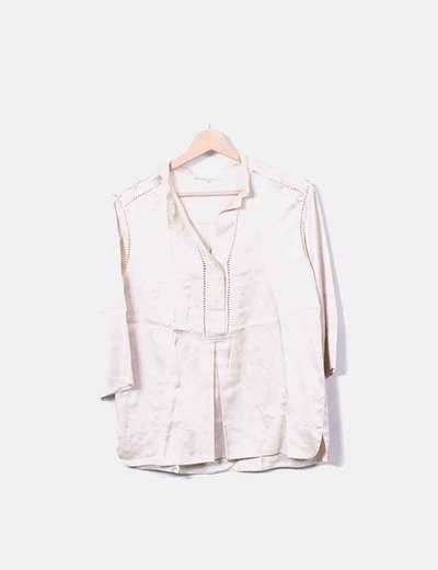 Camisa bege de seda Gerard Darel