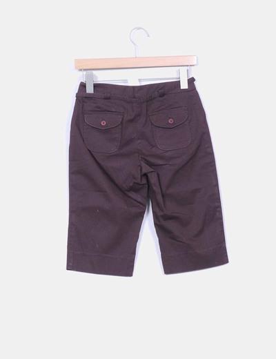 Pantalon pirata marron