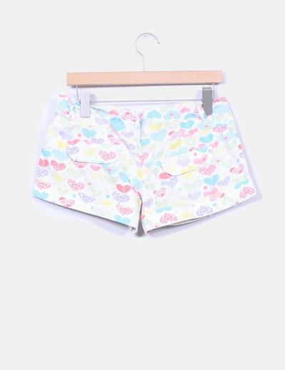 Shorts estampados multicolor