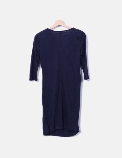 Vestido azul marino recto