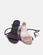 Sandalias de cuña marrones Zara