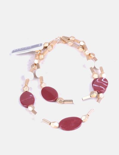 b2a31b23461e Parfois Collar gold piedra granate (descuento 71%) - Micolet