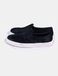 Zapato plano negro con pelo Steve Madden