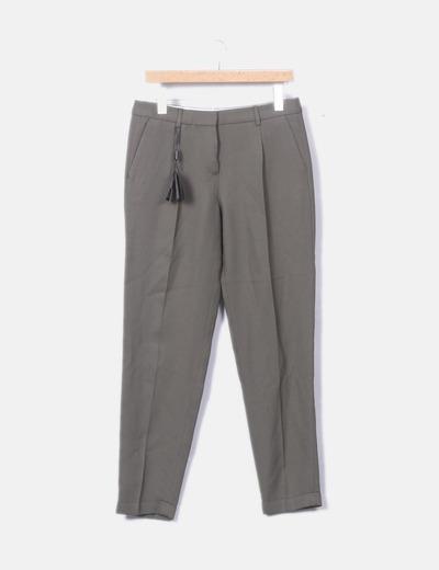 Pantalón chino verde