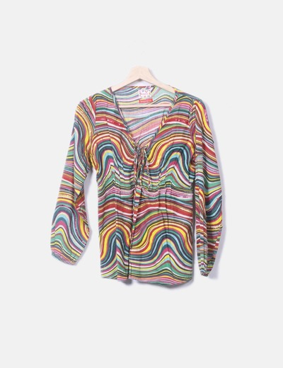 Blusa multicolore Flamenco