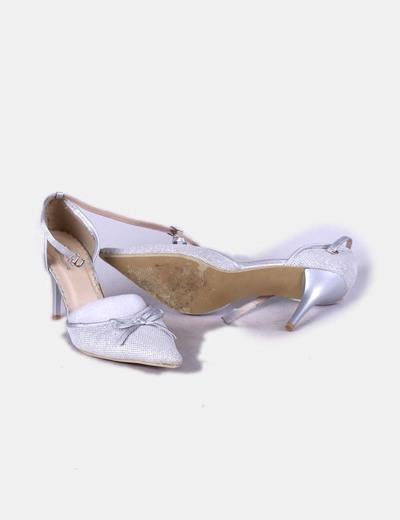 Sandalia de tacon glitter