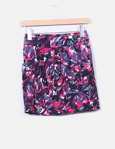 Falda estampado tonos rosas  Suiteblanco
