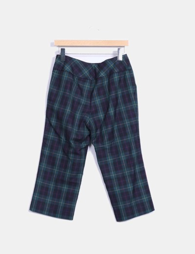 Pantalon culotte tartan
