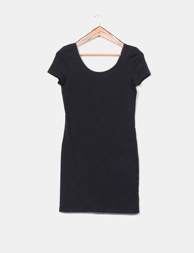 Vestidos negro manga corta