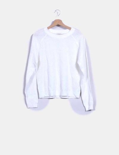 Jersey tricot blanco Jacqueline de Yong