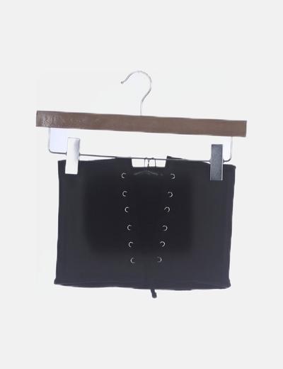 Cinturón canale negro lace up