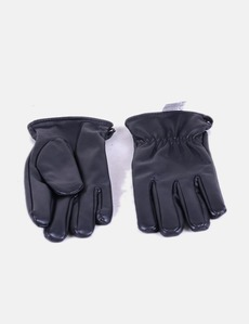 Gants noirs en simili-cuir Ale-Hop 1fd33a99dcd