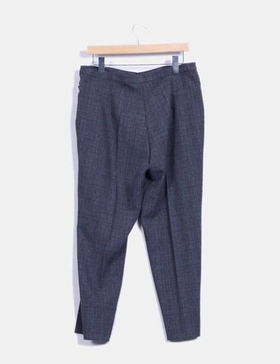 Pantalon de vestir gris de cuadros