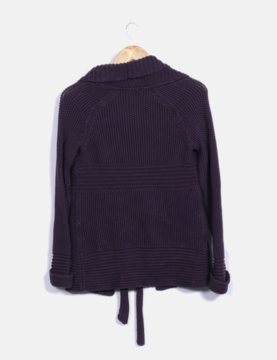 Comptoir des cotonniers cardigan violette chunky en maille avec de la en dentelle r duction 84 - Reduction comptoir des cotonniers ...