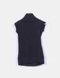 Tricot negro manga corta con cuello Zara