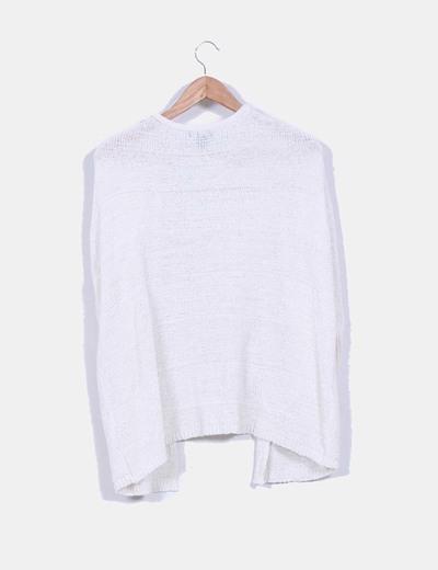 Cardigan blazer punto blanco