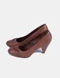 Zapato marrón punta redonda Sole Desire