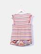 Top de rayas multicolor Zara