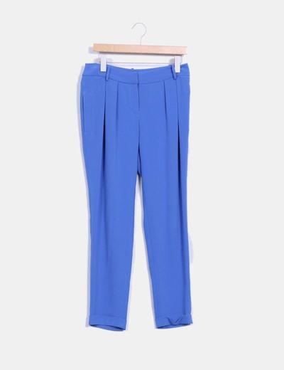 Pantalón azul con caída Maje