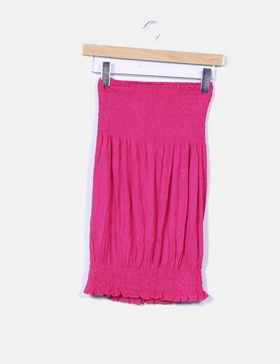 Top fucsia palabra de honor NoName