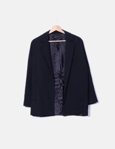 Blazer negra oversize Zara