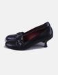 Zapato de tacón negra Saint Tropez