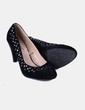 Zapatos terciopelo negro con tachas In Extenso