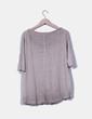 Camiseta camel fino manga corta Zara