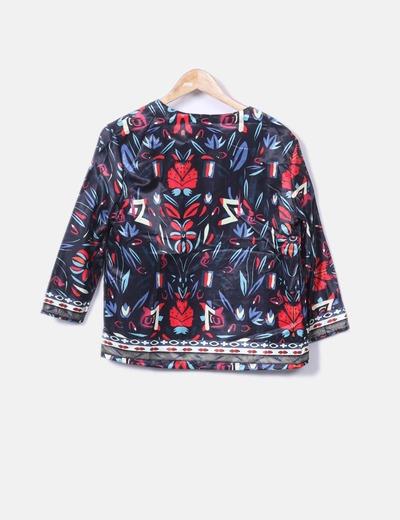 Kimono saten estampado
