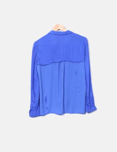 Camisa fluida azul klein