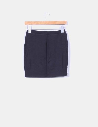 Mini falda elastica efecto encajes