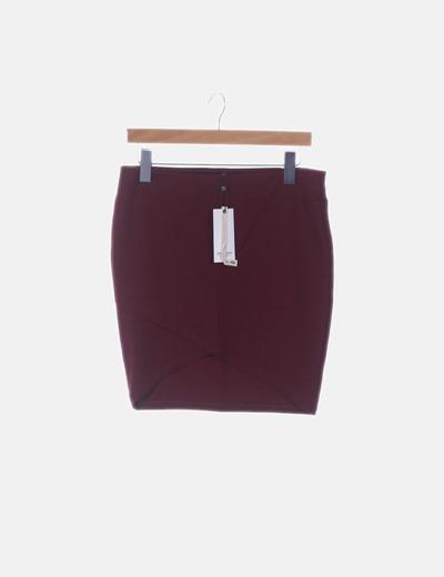 Mini falda burdeos