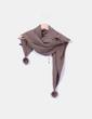 Bufanda marrón con pompones NoName