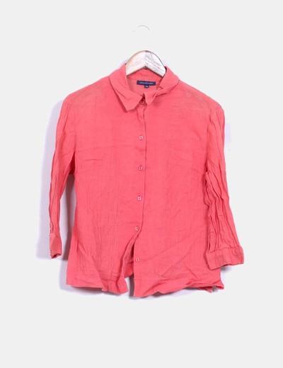 Camisa coral texturizada Adolfo Dominguez