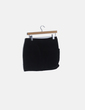 Falda negra mini piel Mango