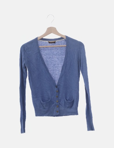 Chaqueta tricot azul