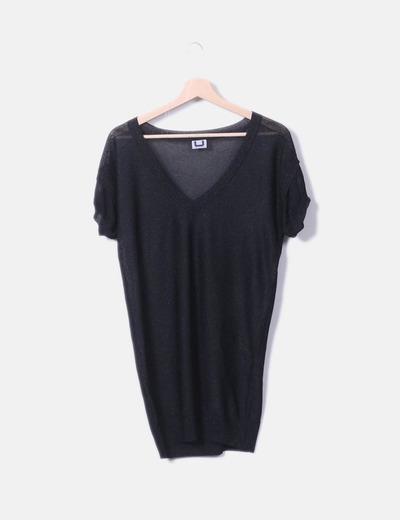 T-shirt avec en maille de à manches courtes Adolfo Dominguez