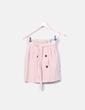 Falda rosa empolvada con botones Primark