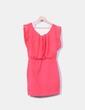 Vestido rosa combinado Fashion