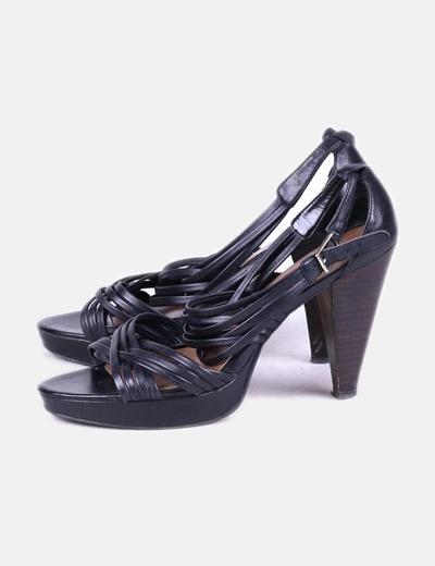 Nine West Tiras de sandália de salto preto (desconto de 75%) - Micolet fa19629cdc