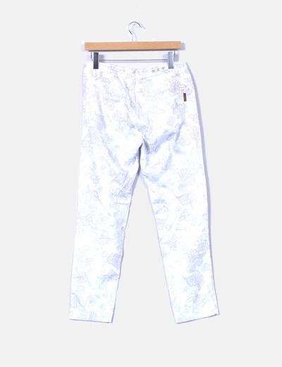 Pantalon blanco estampado