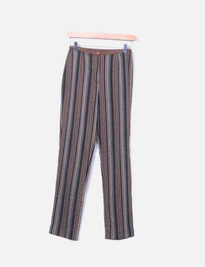 Pantalón de rayas tricolor