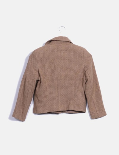 Chaqueta tweed color camel